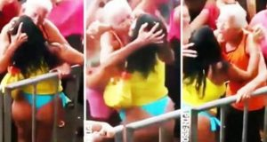 Old Man Kisses Girl at Rave Party