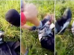 russian paedophile beaten