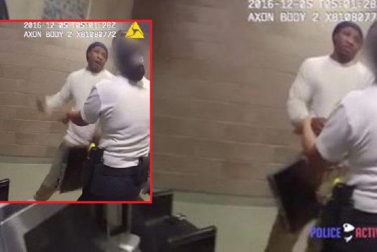 Prisoner Punches Female Guard