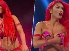 WWE boob slip